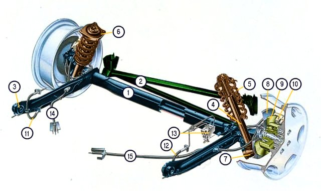 Audi100 Selbst Doku De Main Uebersicht Aller Fahrwerkskomponenten